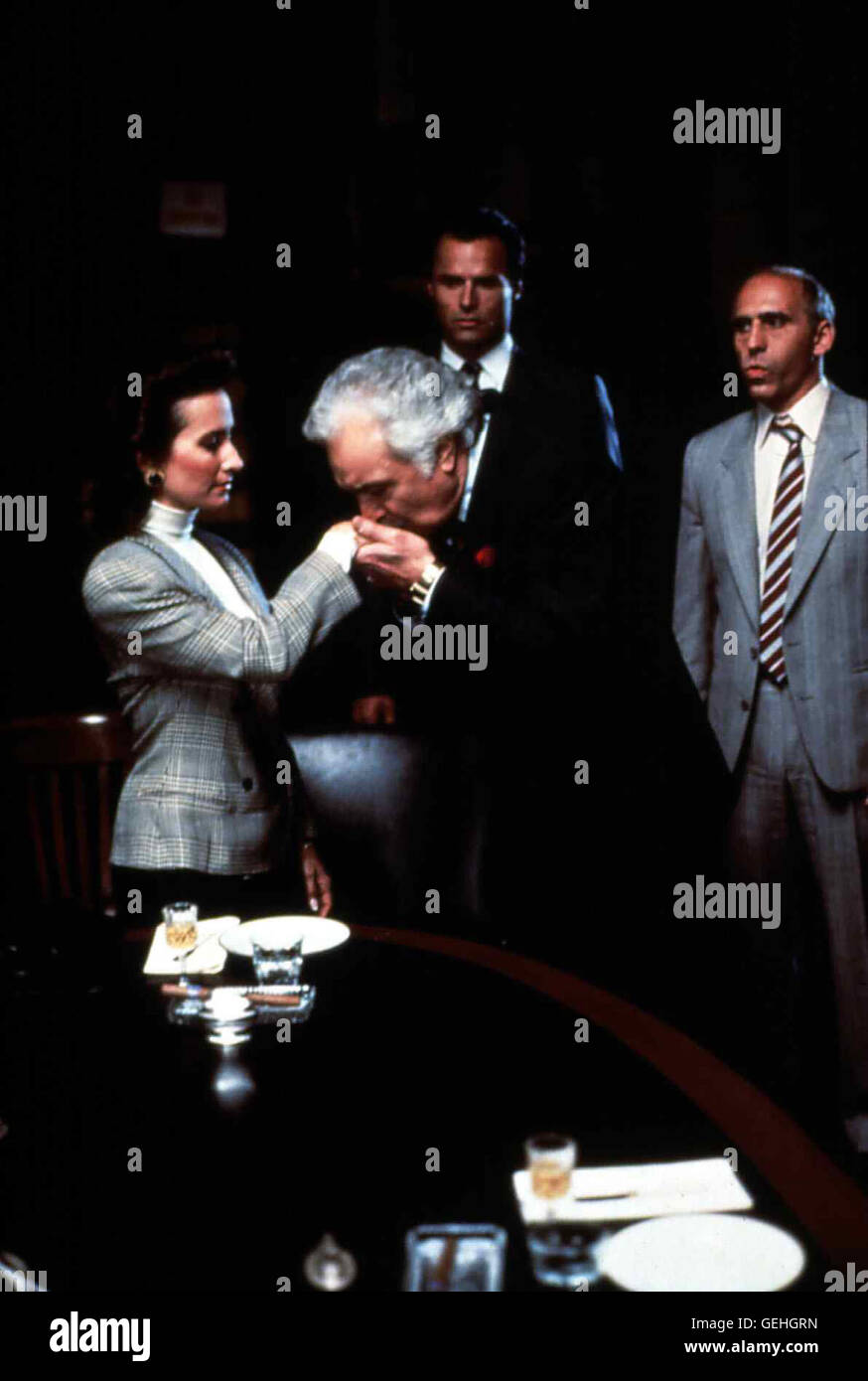 Susan Lucci (l), Al Ruscio (mv) und Michael Nader (mh) *** Local Caption *** 1988, Lady Mobster, Die Mafia-Lady - Stock Image