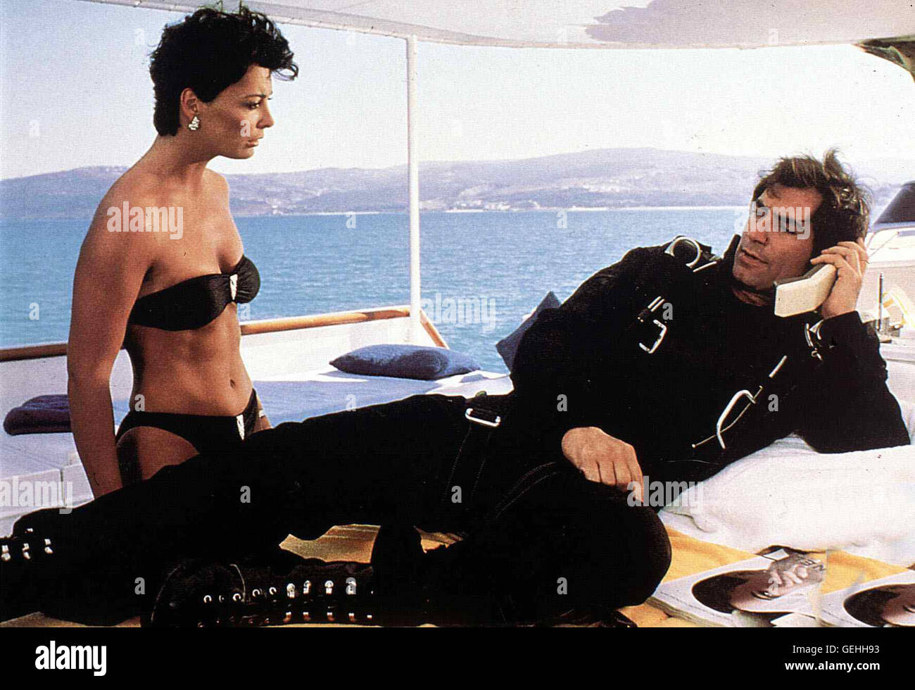 Timothy Dalton  *** Local Caption *** 1987, Living Daylights, The, James Bond 007 - Der Hauch Des Todes - Stock Image