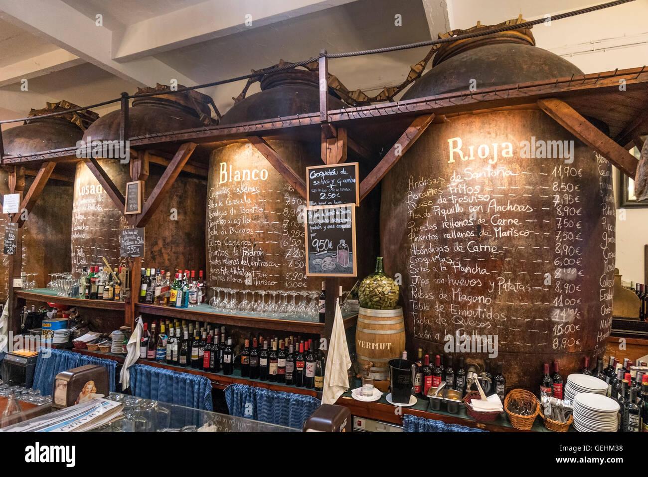 Bodegas Mazon Tapaz Bar Santander, Cantabria, Spain Stock Photo