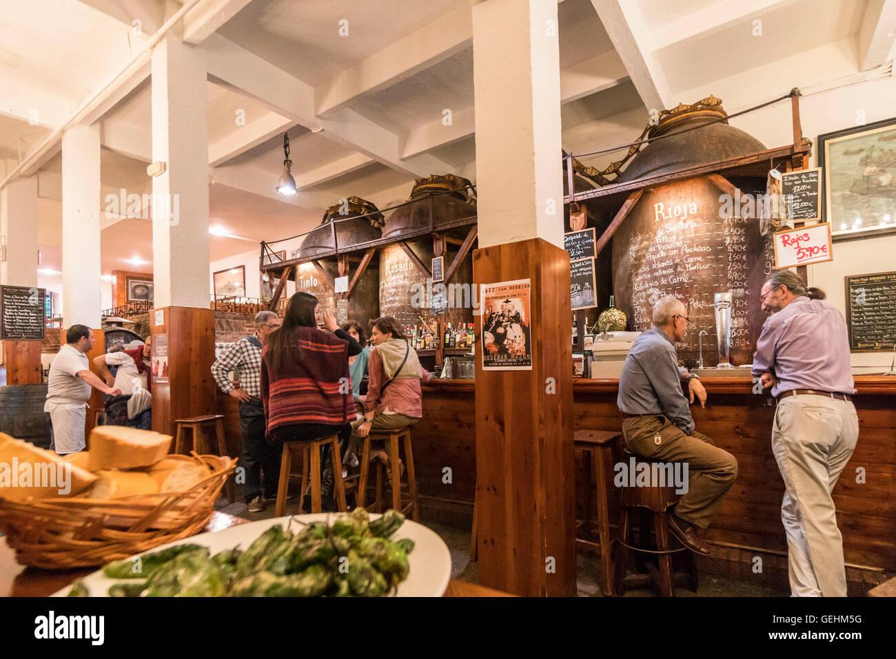 Bodegas Mazon tapas bar Santander Cantabria Spain Stock Photo