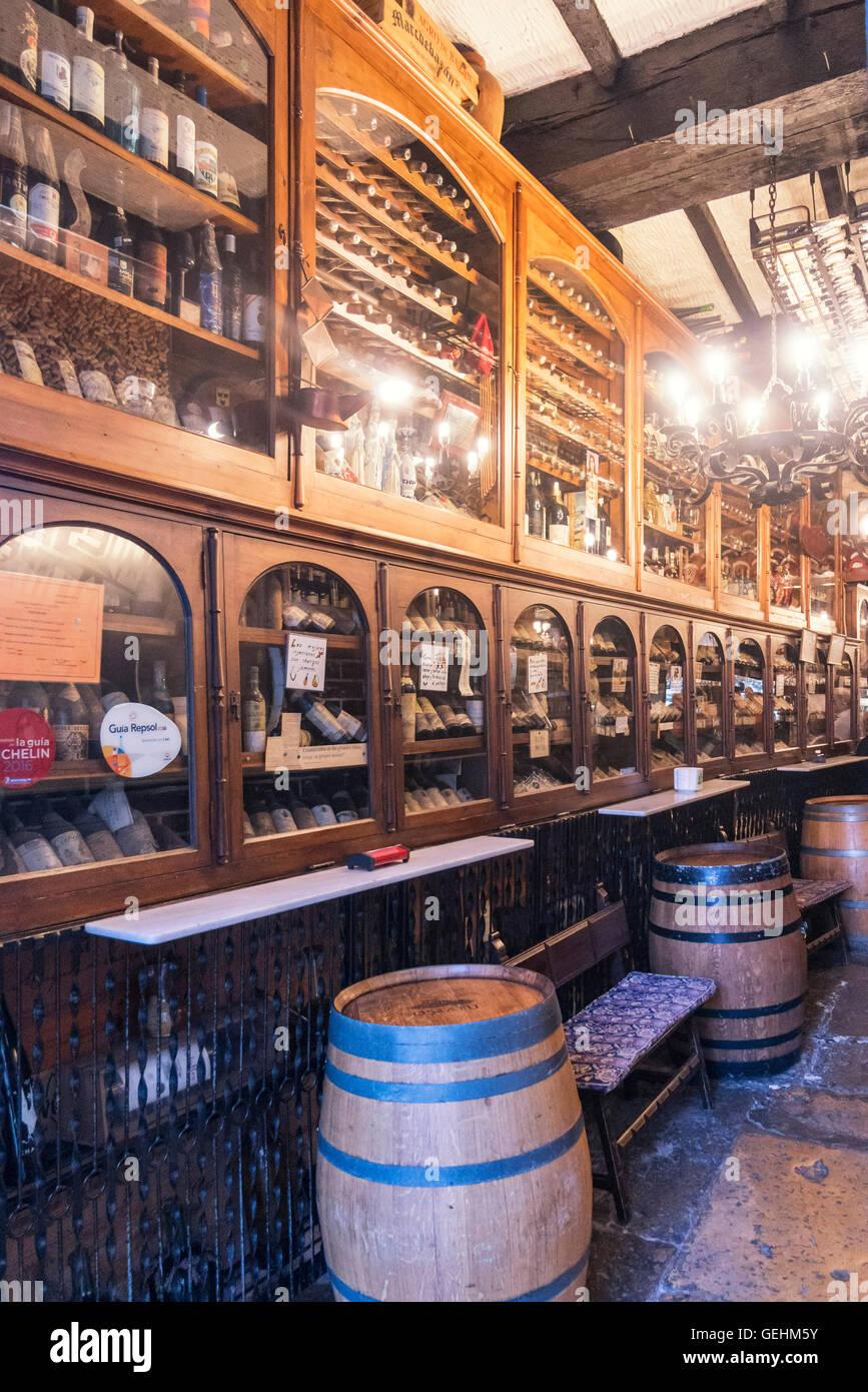 Wine bar, Santander, Cantabria, Spain - Stock Image