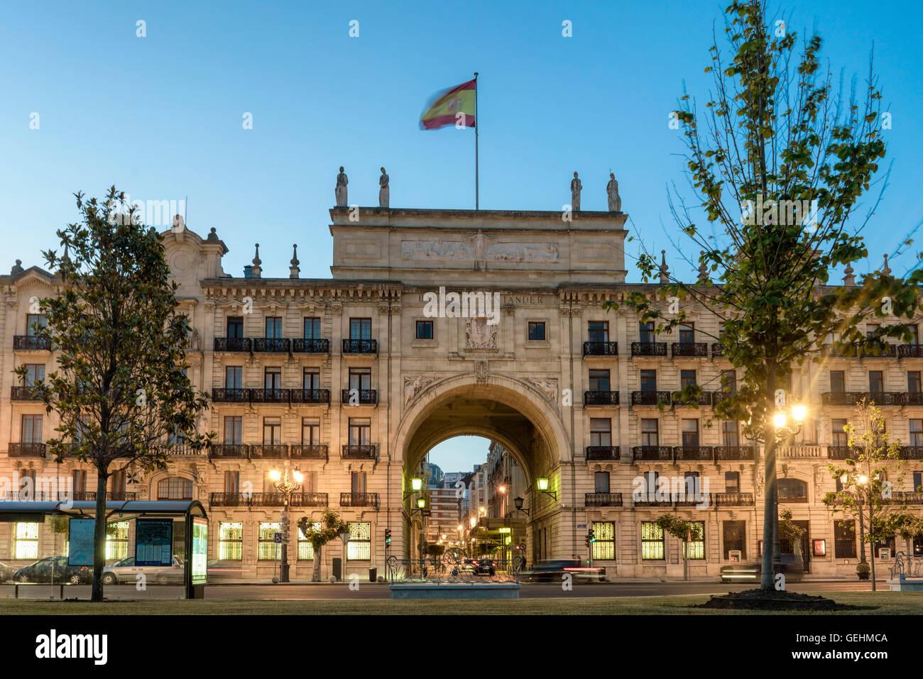 Banco de Santander, Santander, Cantabria, Spain Stock Photo
