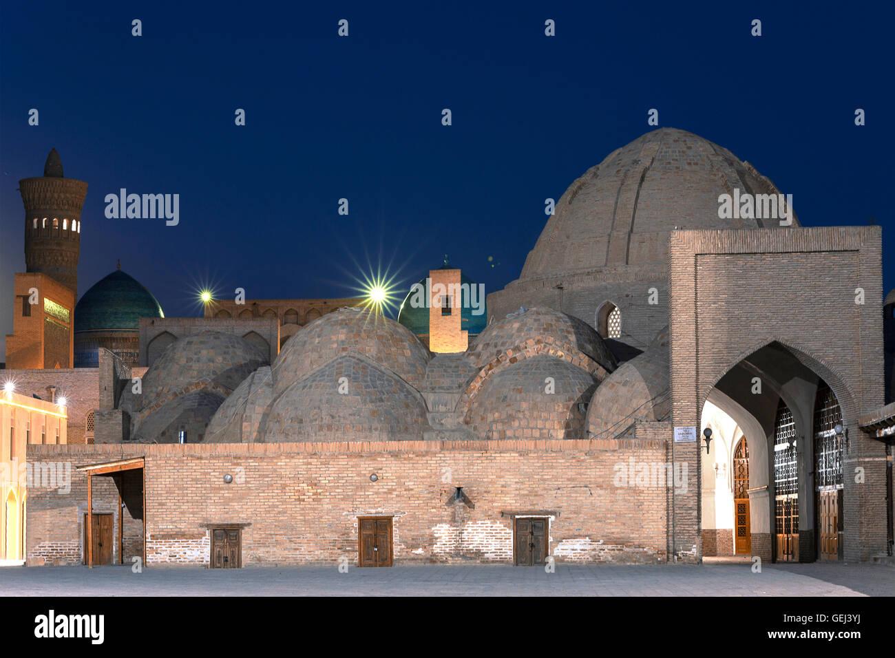 Domed bazaar in Bukhara, Uzbekistan. Stock Photo