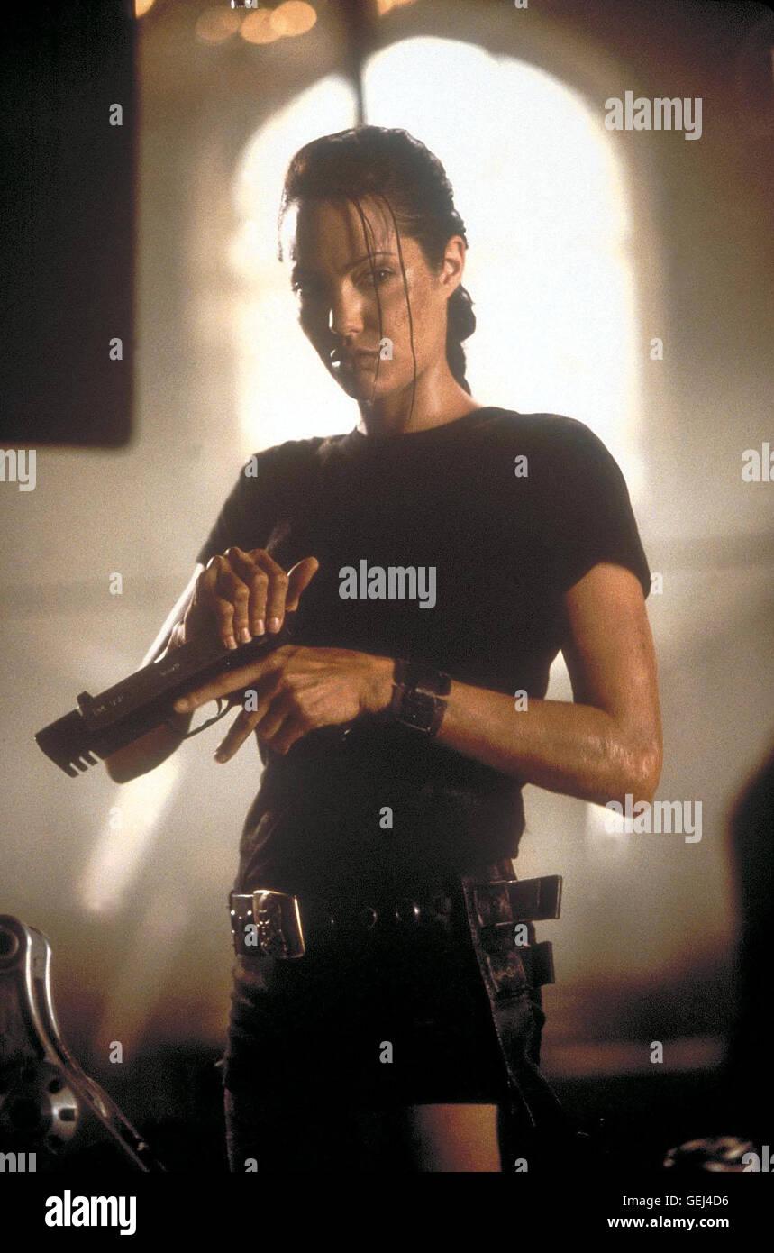 Lara Croft (Angelina Jolie) *** Local Caption *** 2001, Lara Croft: Tomb Raider, Lara Croft: Tomb Raider - Stock Image