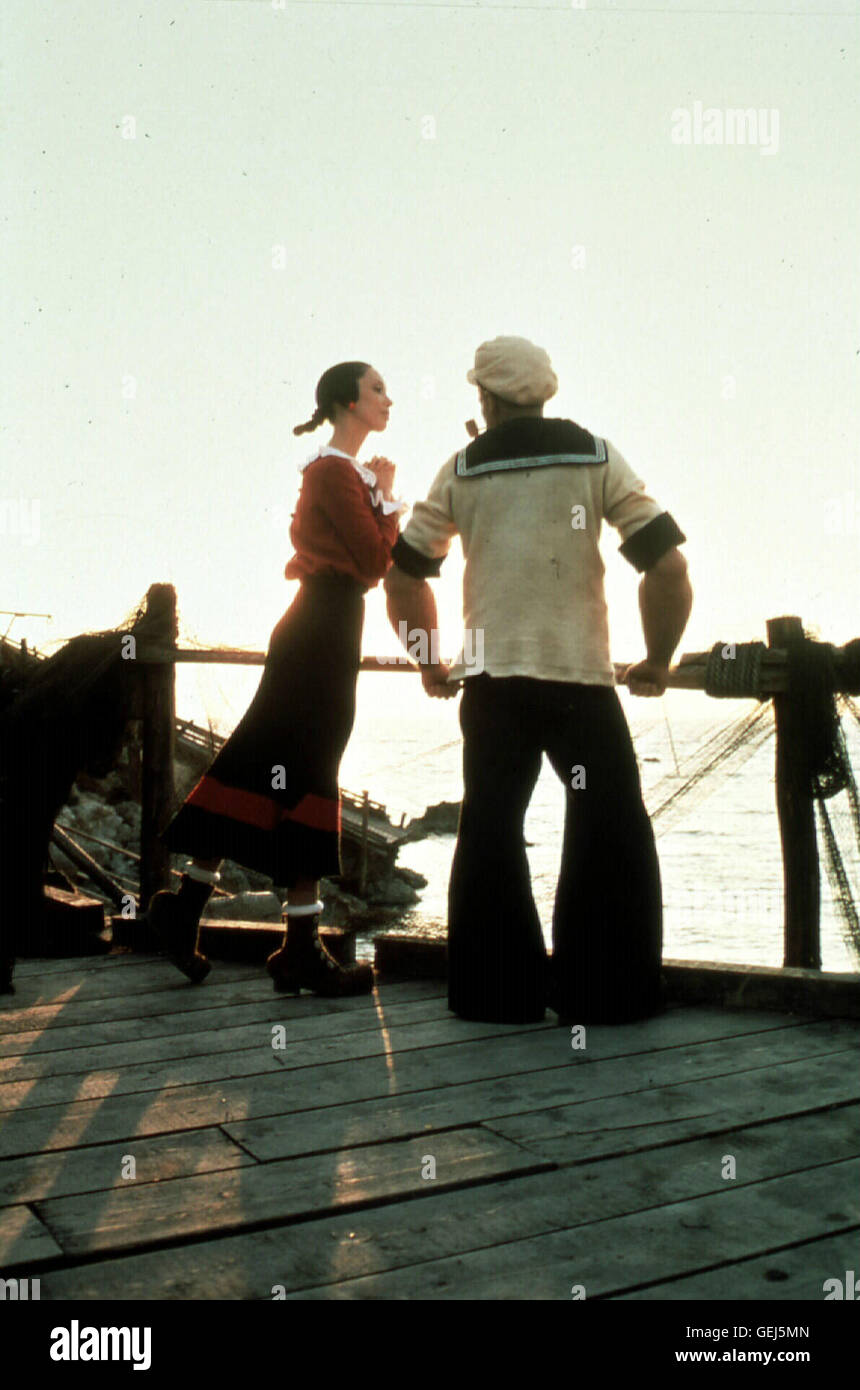 Shelley Duvall, Robin Williams  Olivia (Shelley Duvall) himmelt Seemann Popeye (Robin Williams) an. *** Local Caption - Stock Image