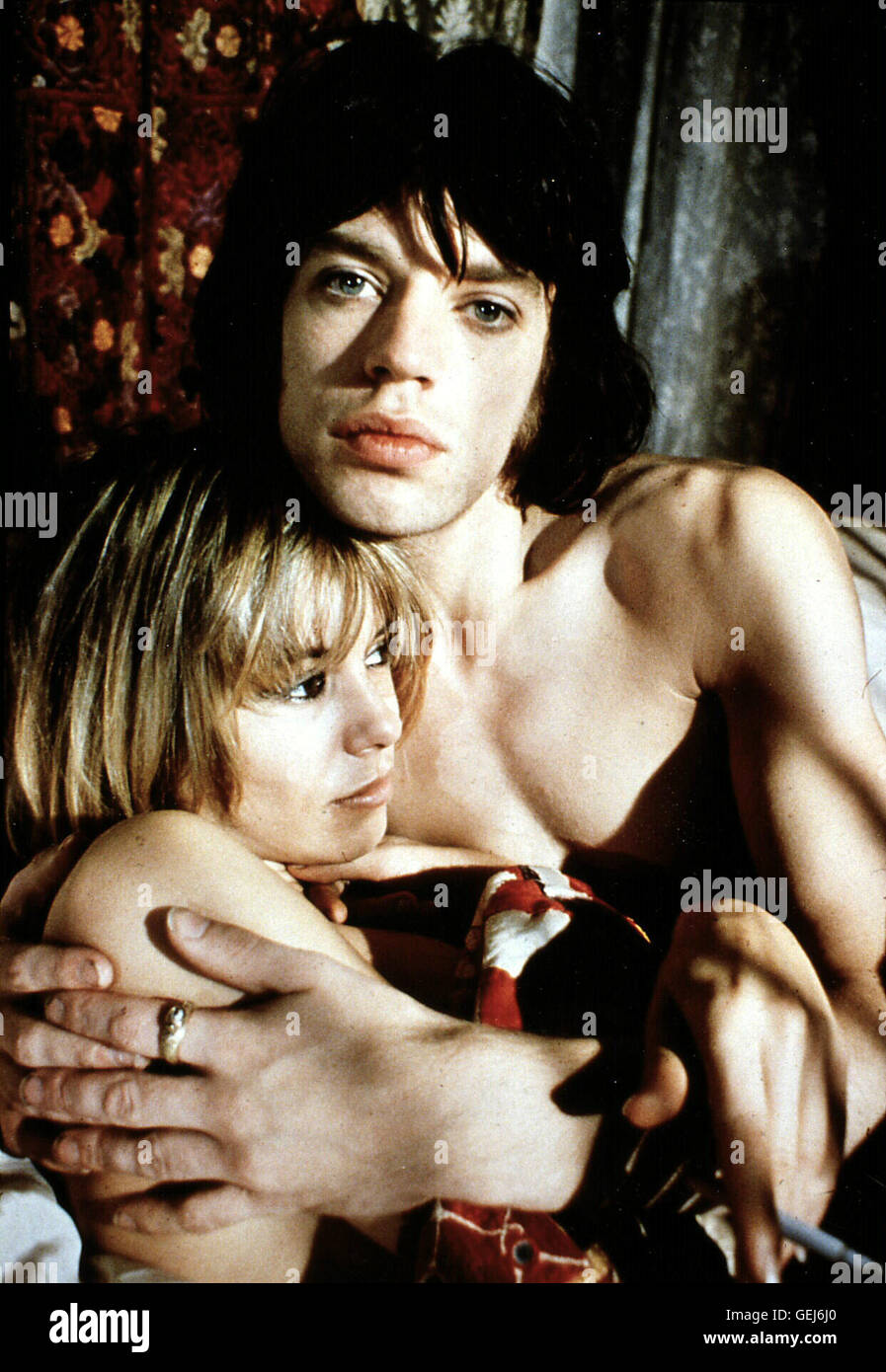 Anita Pallenberg, Mick Jagger Pherben (Anita Pallenberg), Turner (Mick Jagger)  *** Local Caption *** 1970, Performance, - Stock Image