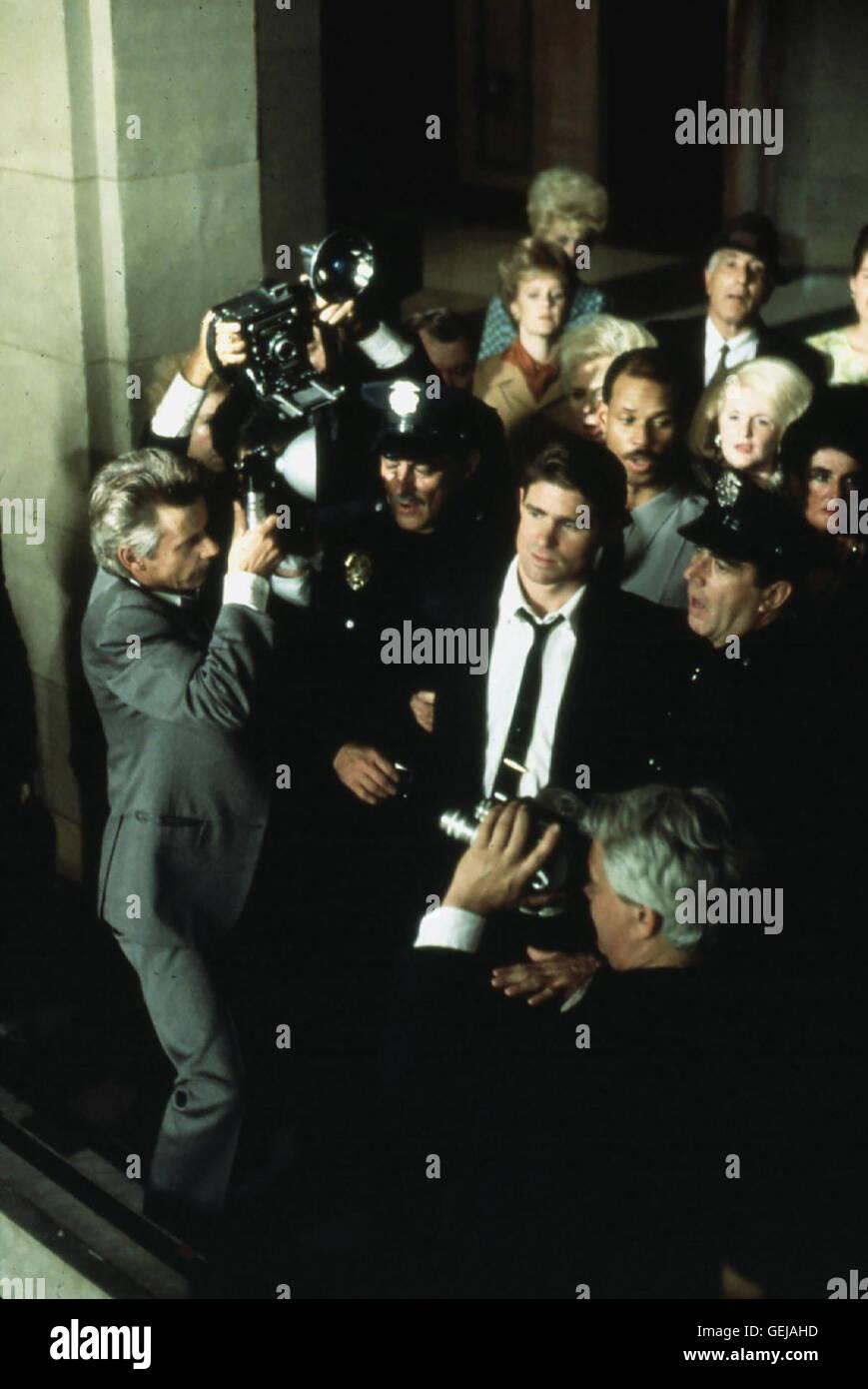 Treat Williams Nachdem der gewalttaetige Ex-Cop Alan Palliko (Treat Williams) den Mann seiner Geliebten aus Geldgier umgebracht, wird er aus Mangel an Beweisen freigesprochen. *** Local Caption *** 1991, Till Death Do Us Part, Der Tod Wird Uns Scheiden Stock Photo