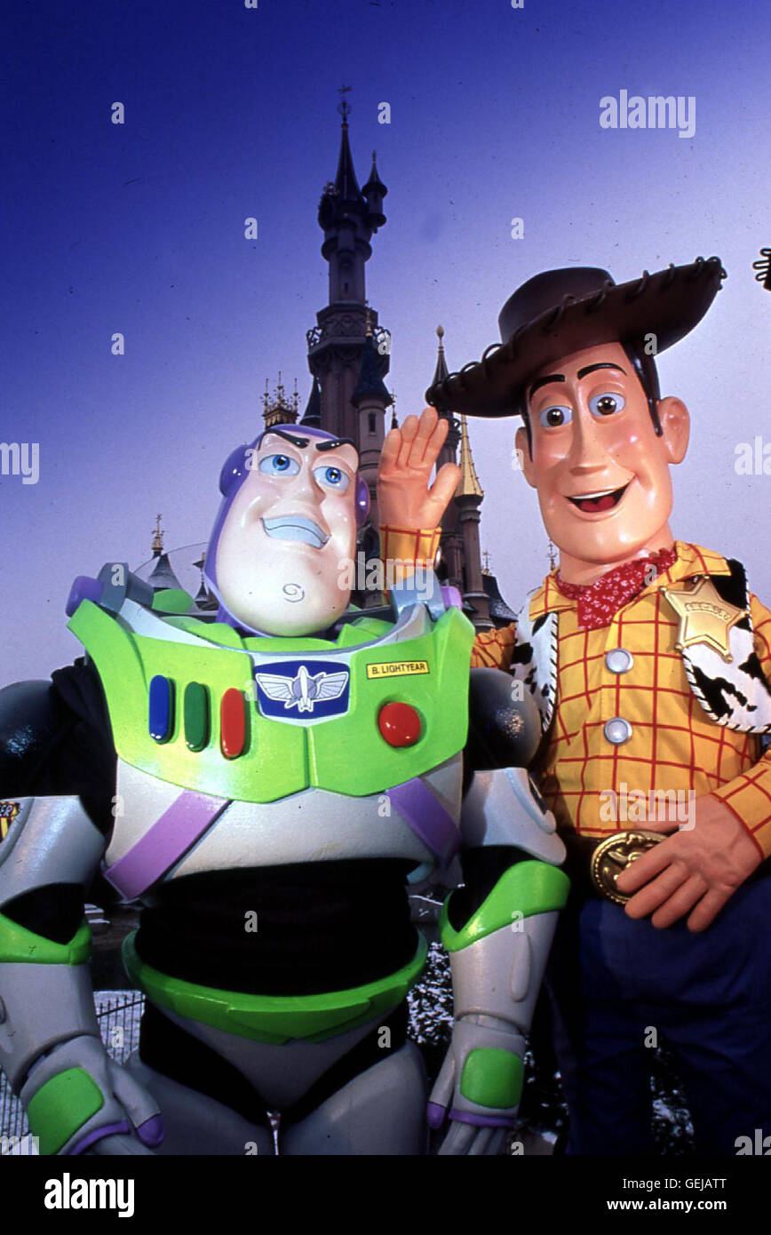 Buzz Lightyear, Woody *** Local Caption *** 1995, Toy Story, Toy Story - Stock Image