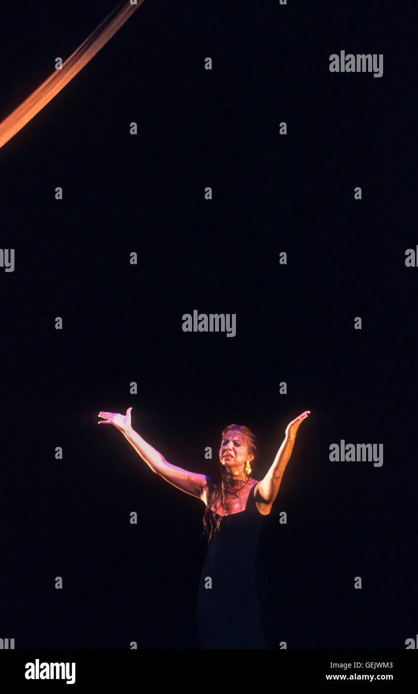 `Juana Amaya´(Juana García Gómez).Flamenco dancer. Lope de Vega theatre. Seville, Andalusia, Spain - Stock Image