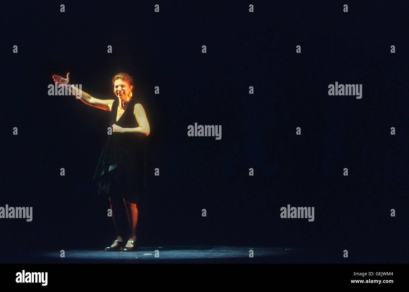 `Juana Amaya´(Juana García Gómez).Flamenco dancer. Lope de Vega theatre. Sevilla, Andalusia, Spain - Stock Image