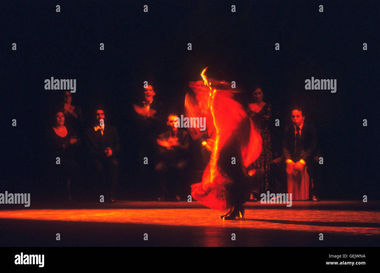`María Pagés´(María Jesús Pagés Madrigal). Flamenco dancer. La Maestranza theatre. - Stock Image