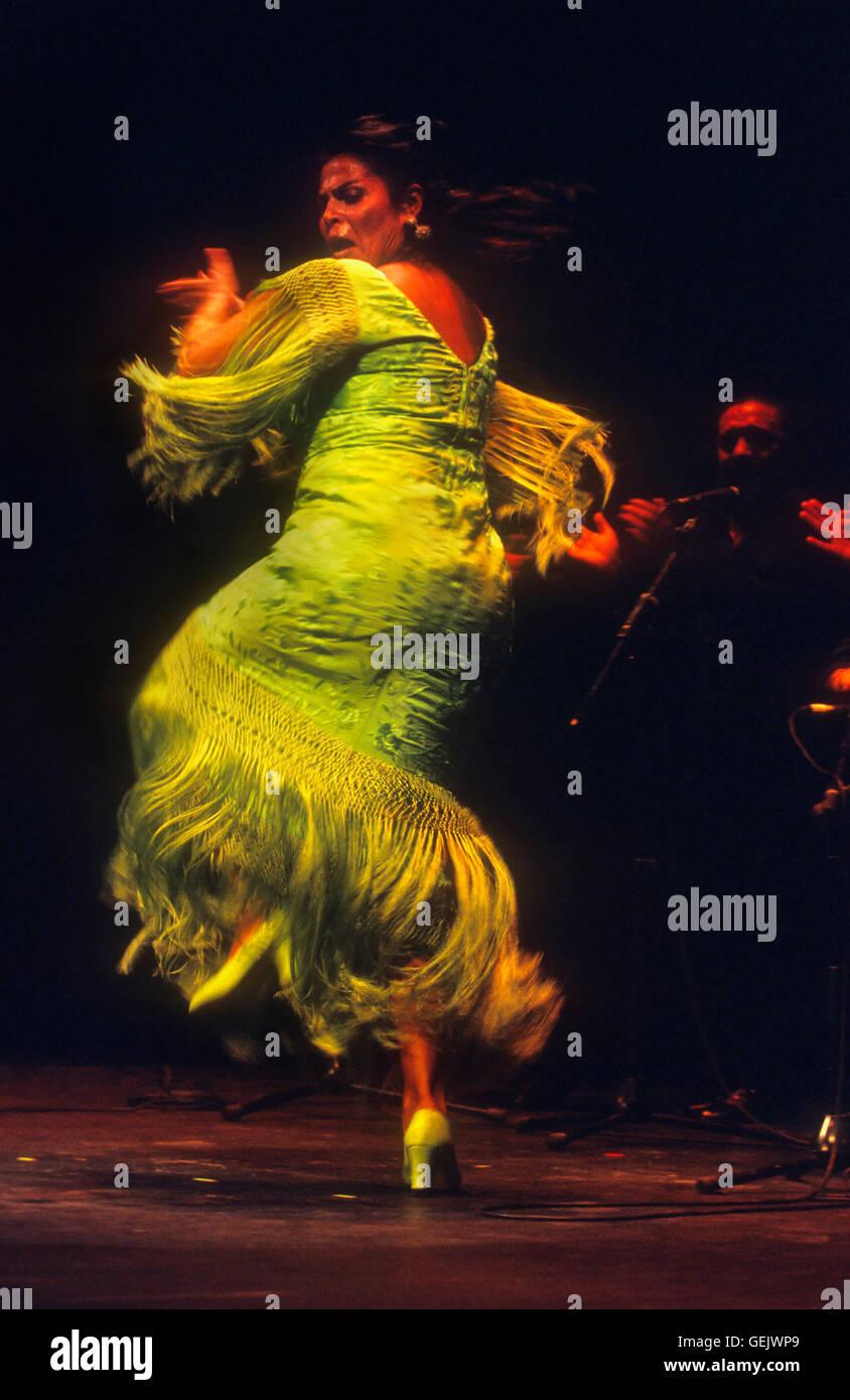 Aurora Vargas.Flamenco singer and dancer. Lope de Vega theatre. Sevilla, Andalusia, Spain - Stock Image