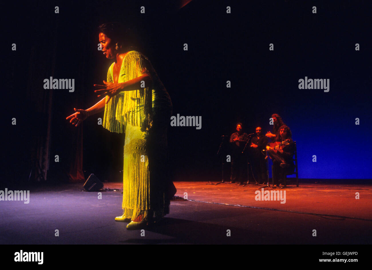 Aurora Vargas.Flamenco singer and dancer. Lope de Vega theatre. Sevilla, Andalusia, Spain - Stock Image