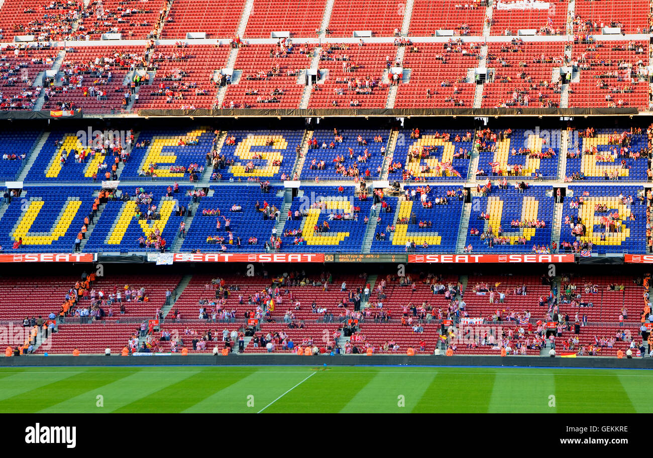 Fútbol Club Barcelona stadium. Barcelona, catalonia,spain - Stock Image