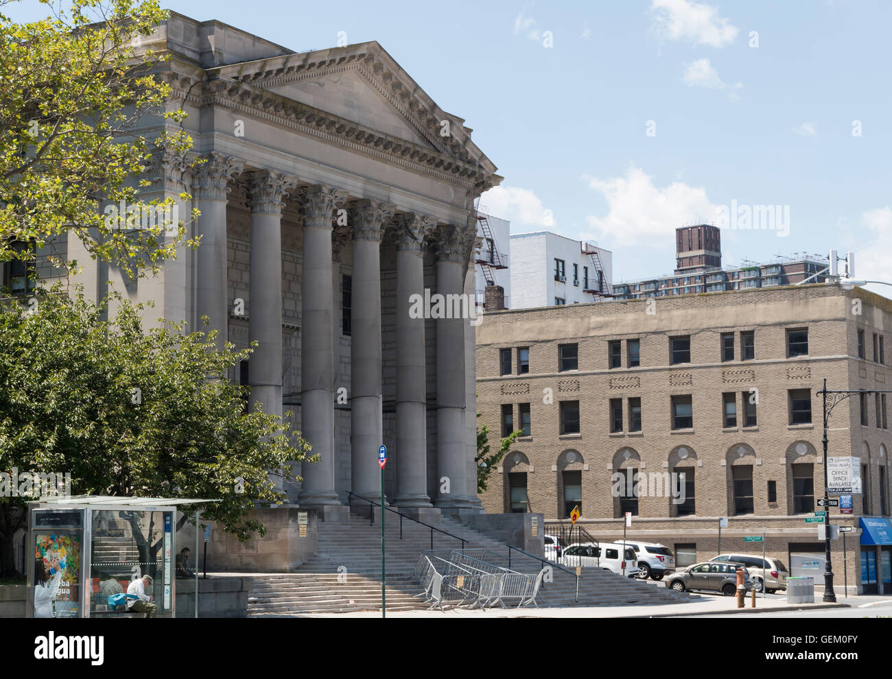 Richmond County Courthouse landmarked building on Richmond Terrace, Staten Island, New York City, New York. - Stock Image
