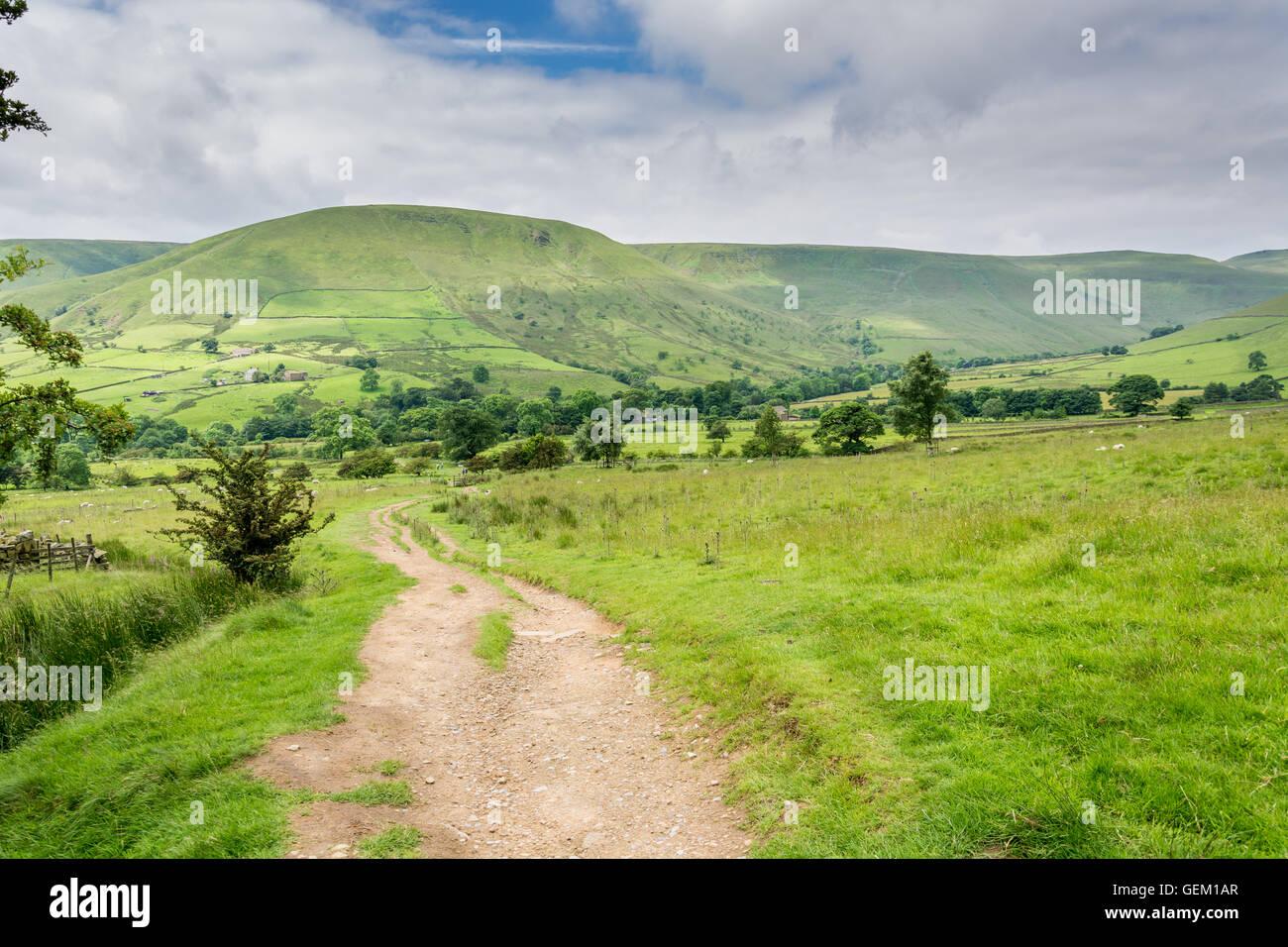 Peak district Landscape,Edale England - Stock Image