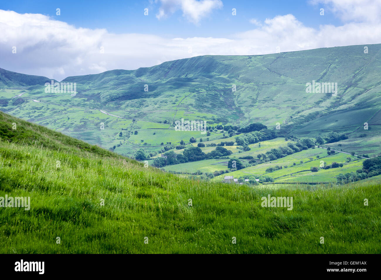 Edale Valley England, Derbyshire - Stock Image