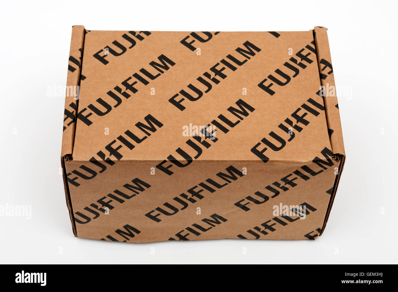Fujifilm box - Stock Image