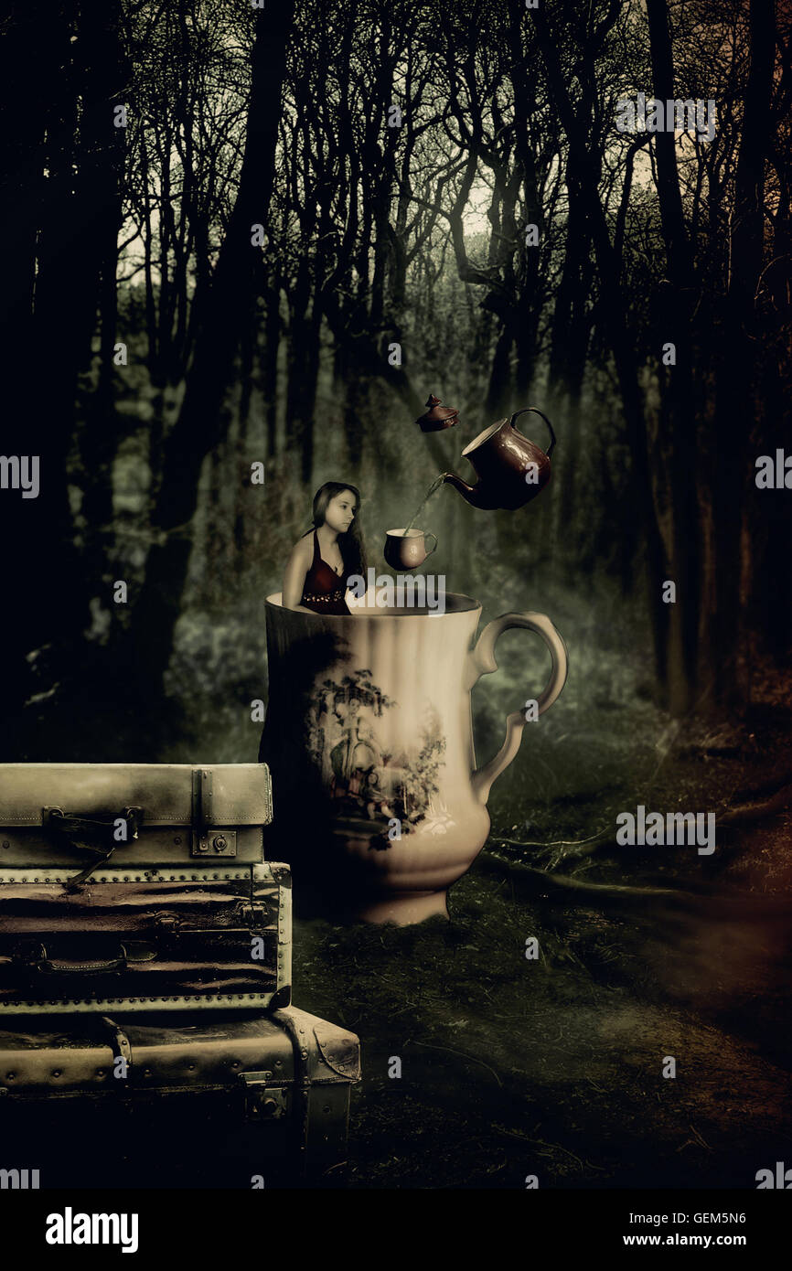 Fairytale photoshop manipulation - Stock Image