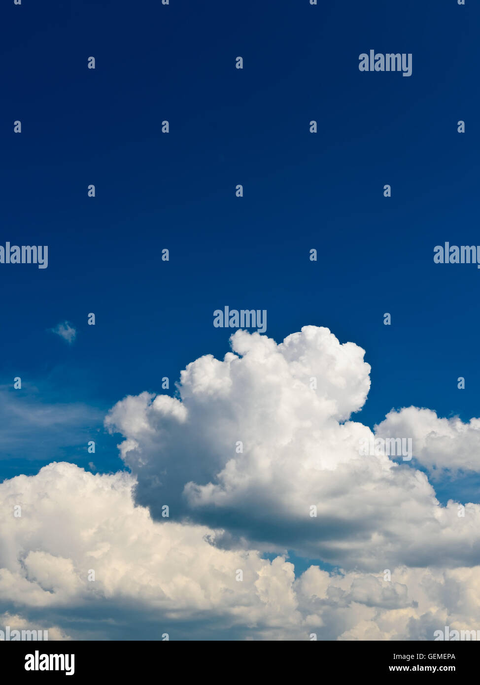 blue sky with beautiful white clouds - Stock Image