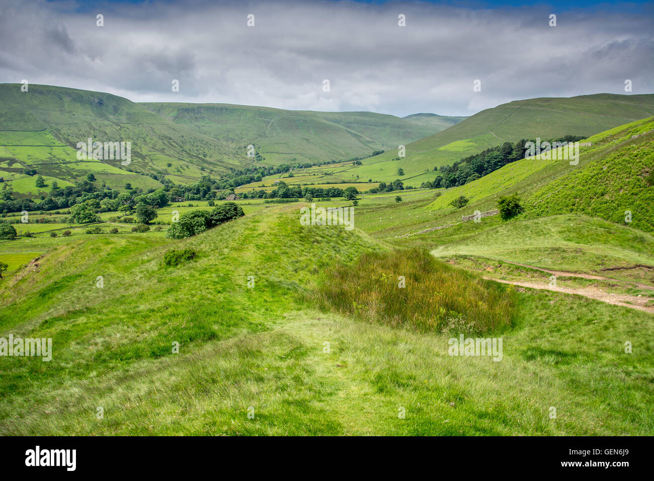 National Park ,Edale Hope Valley England - Stock Image