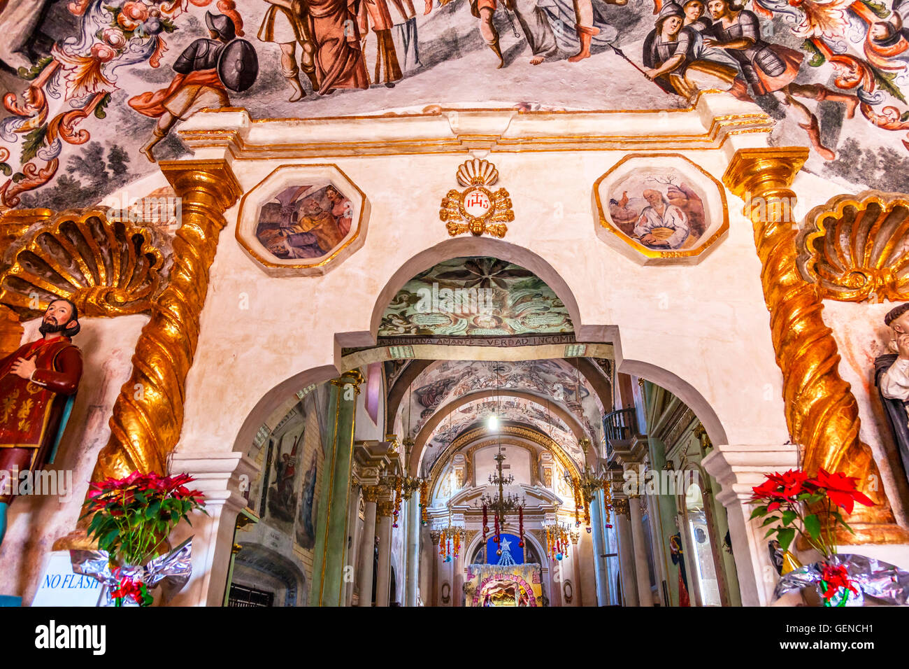 Frescoes Sanctuary Of Jesus Atotonilco Mexico Built In The 1700s Stock Photo Alamy
