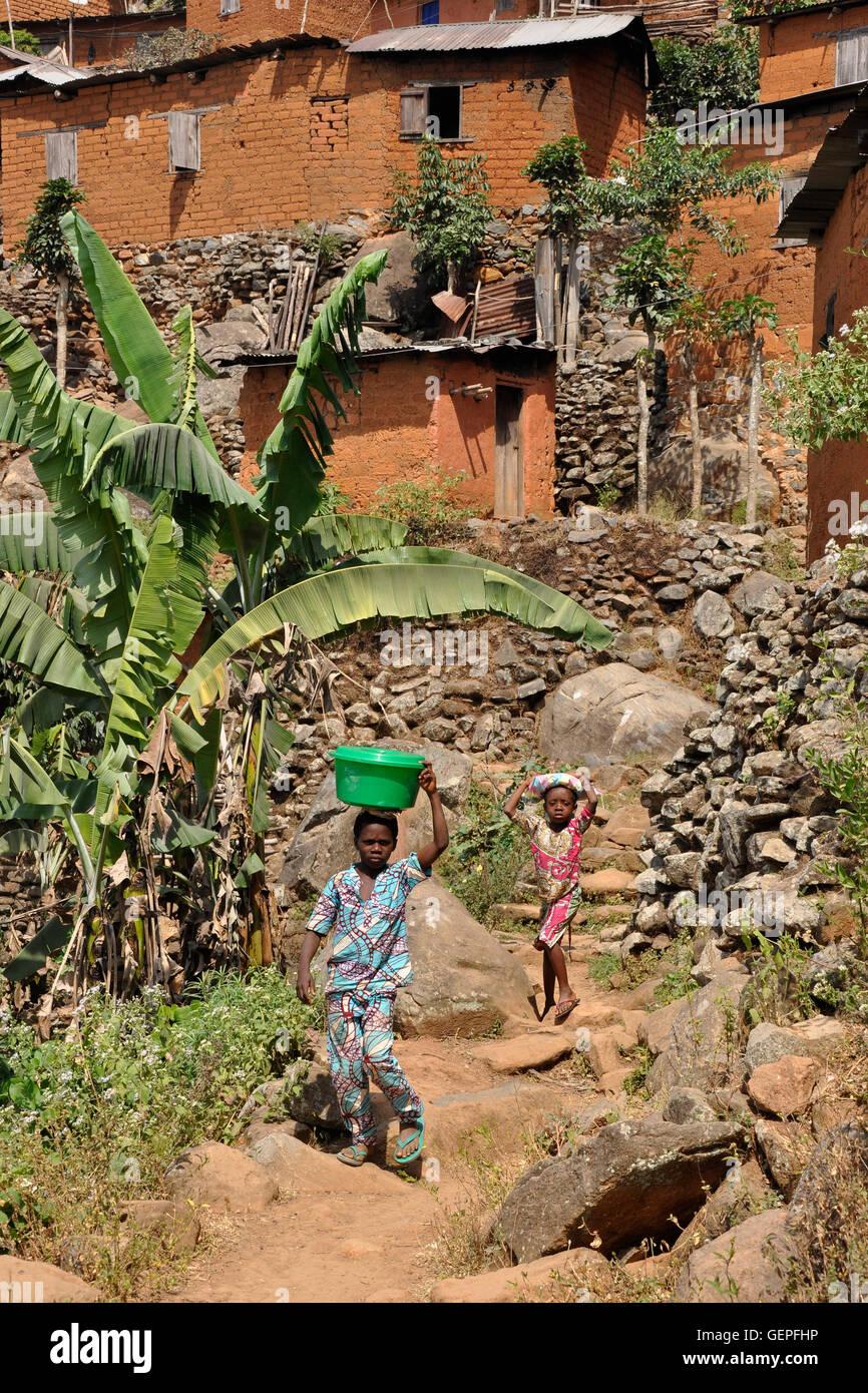 Togo, Kouma Kondo, village - Stock Image