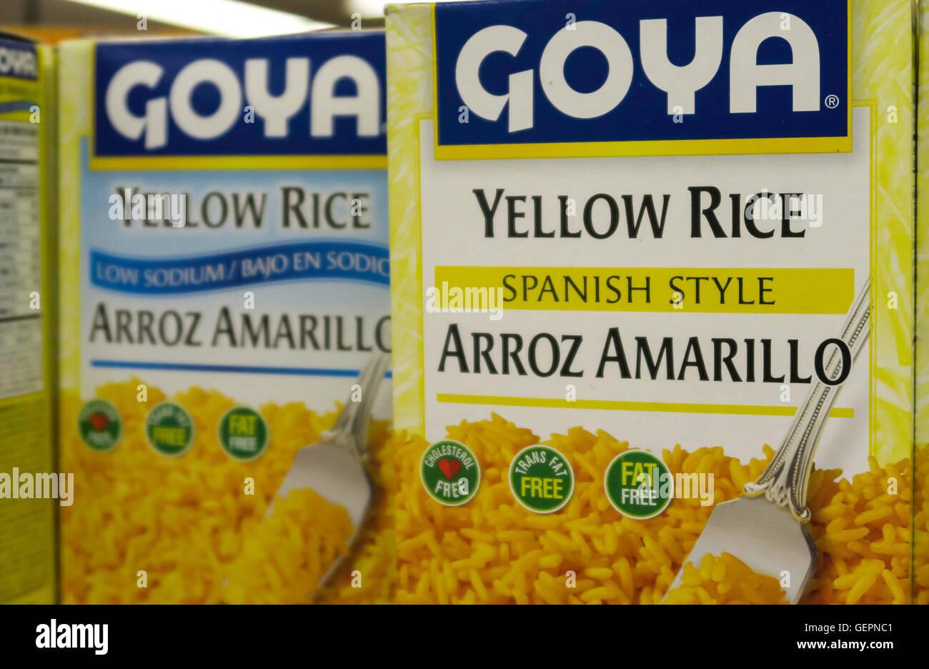 Goya Yellow Rice Spanish Style Usa Stock Photo 112367137 Alamy