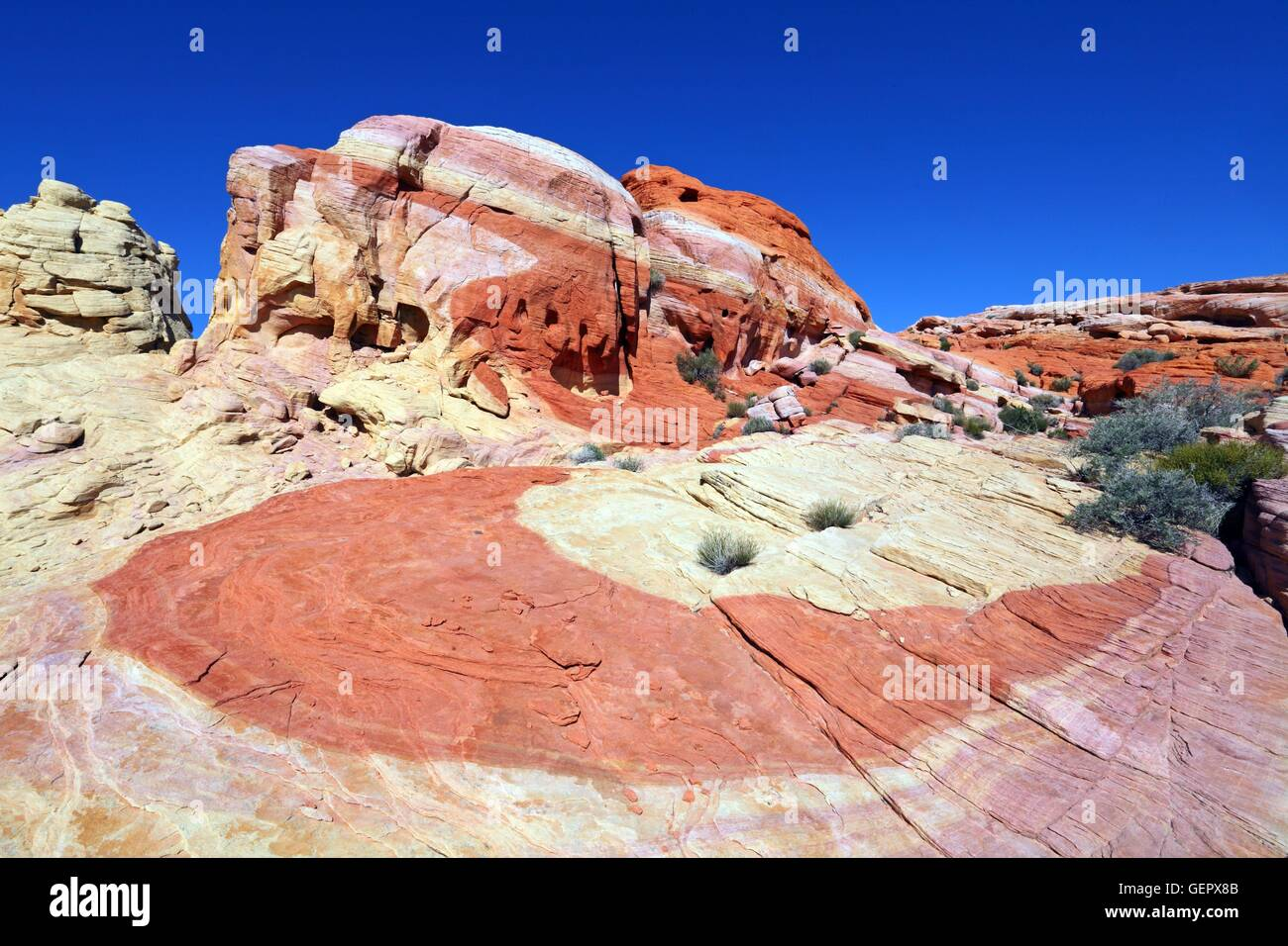 geography / travel, USA, Nevada, Nike Rock, Valley of Fire, Stock Photo