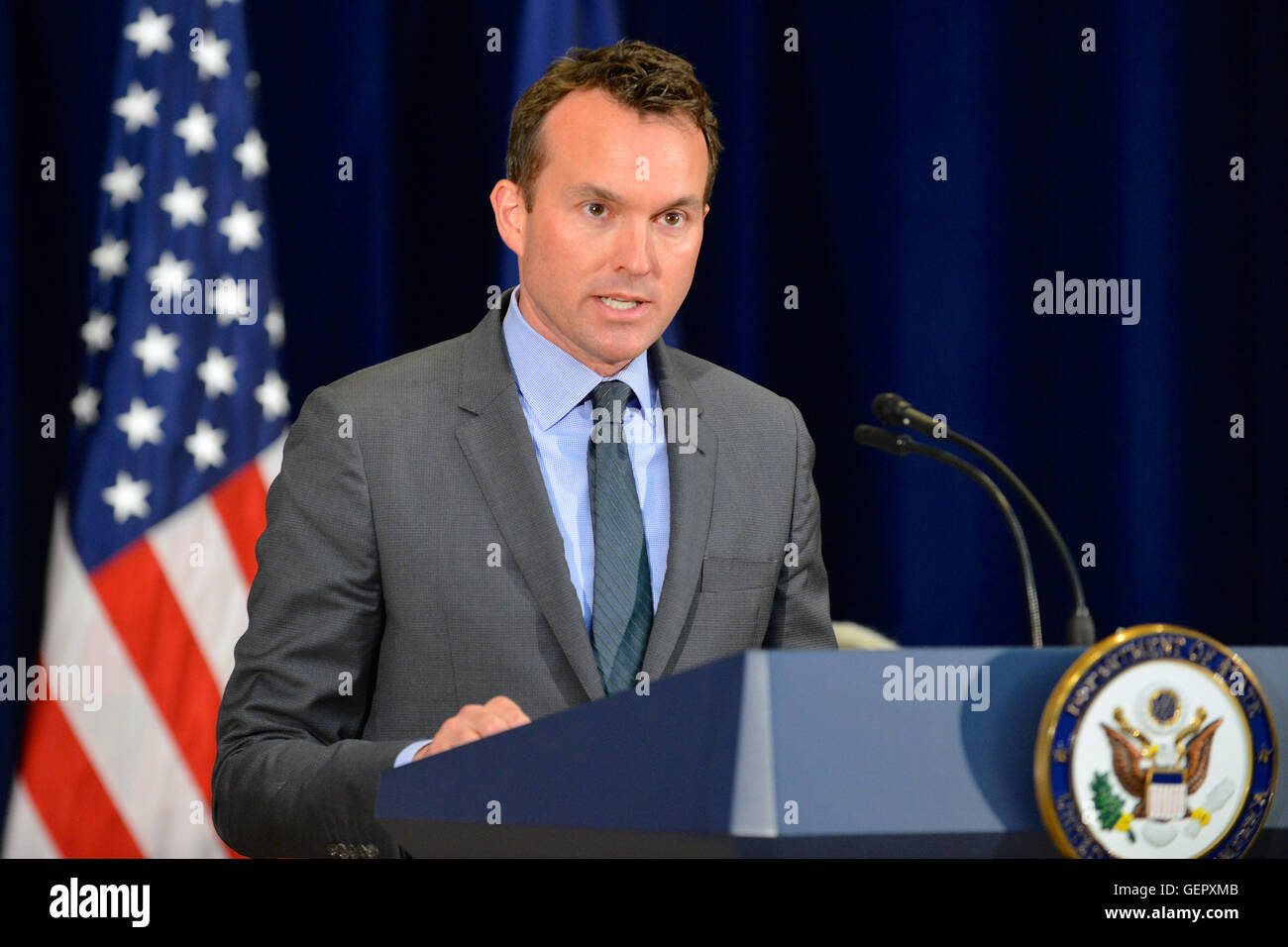 Secretary of the Army Fanning Delivers Remarks at the State Department's 'Pride at State' Event in Washington, - Stock Image