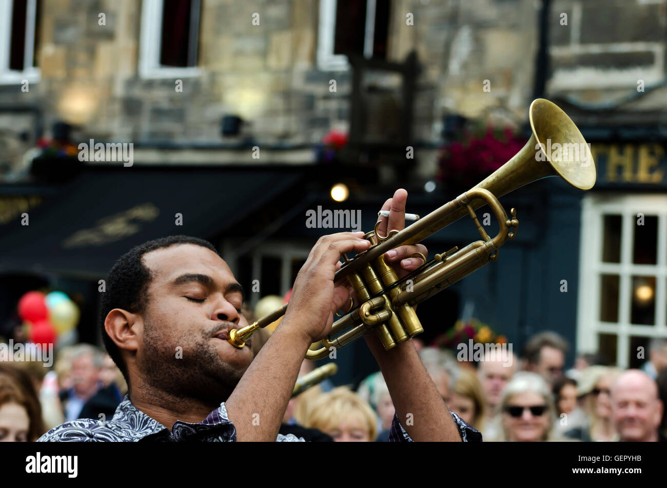 James Williams The Trumpeter With The New Orleans Swamp Donkeys Stock Photo Alamy
