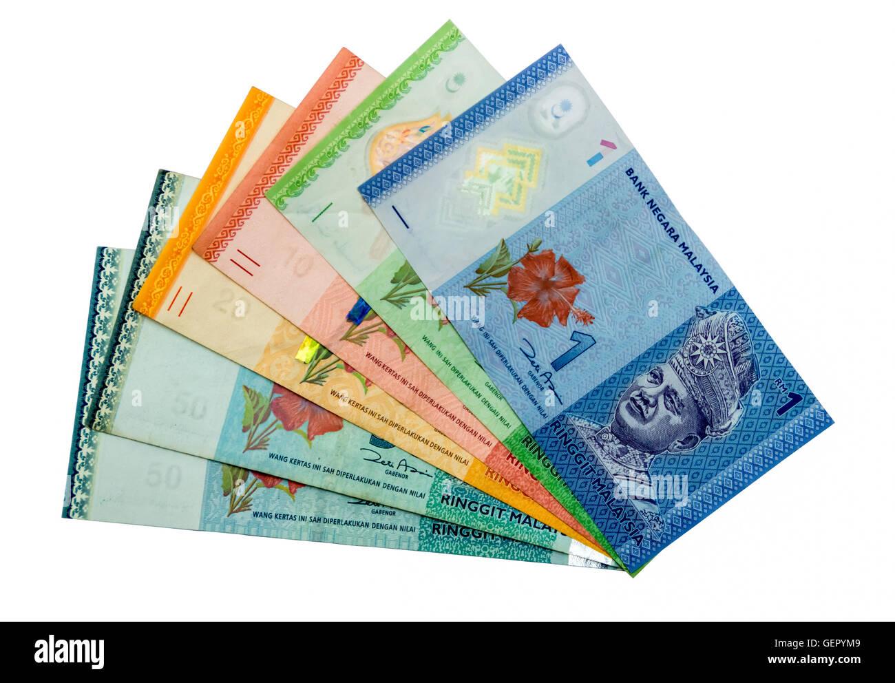 International currencies  ringgit malaysia - Stock Image