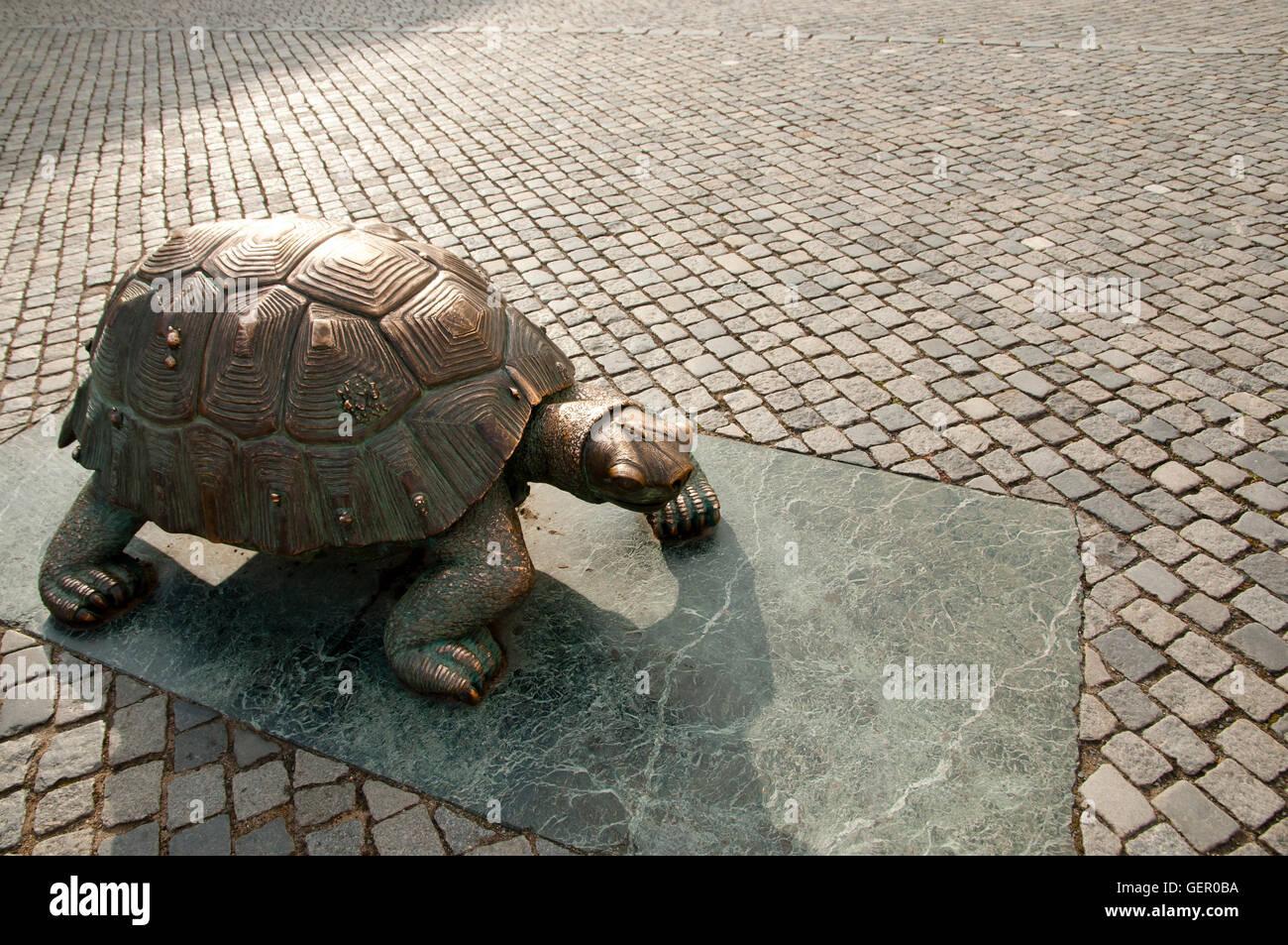 Turtle Statue - Olomouc - Czech Republic - Stock Image