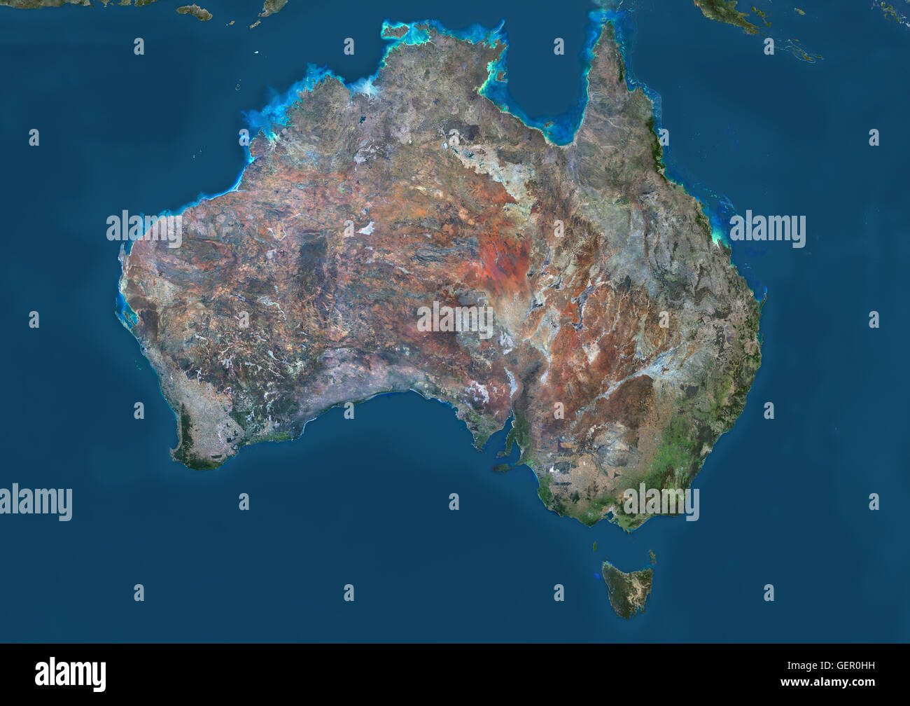 satellite view of australia this image was compiled from data acquired by landsat 8 satellite in 2014