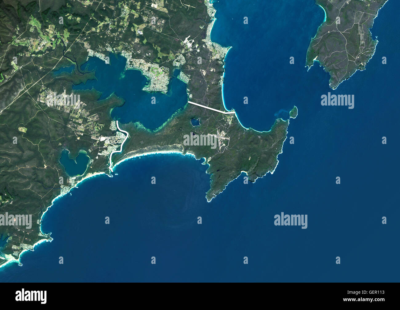 Australia Map Jervis Bay.Satellite View Of Jervis Bay Territory Australia With