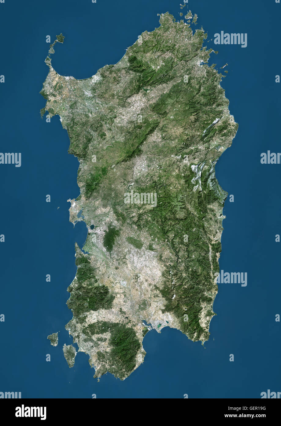 Cartina Sardegna Satellite.Satellite View Sardinia High Resolution Stock Photography And Images Alamy