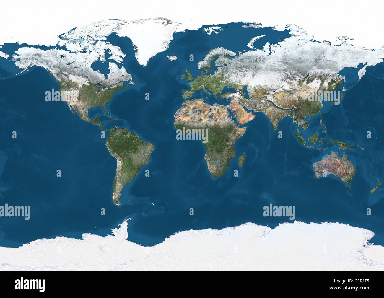 Map Of The World Satellite.World Satellite Map In Winter With Partial Snow Cover This Image