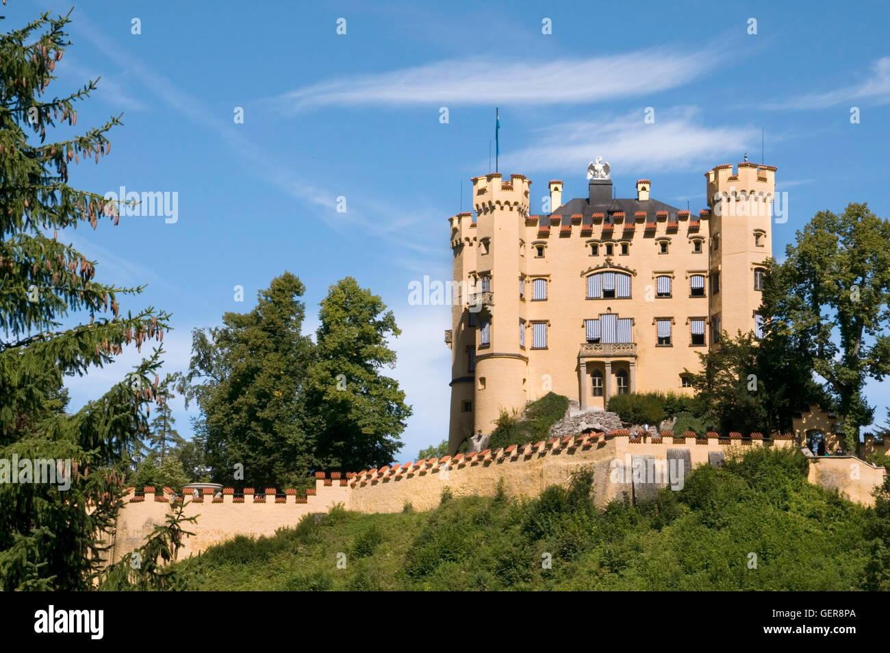 geography / travel, Germany, Bavaria, Hohenschwangau Castle, Allgaeu, Swabia, - Stock Image