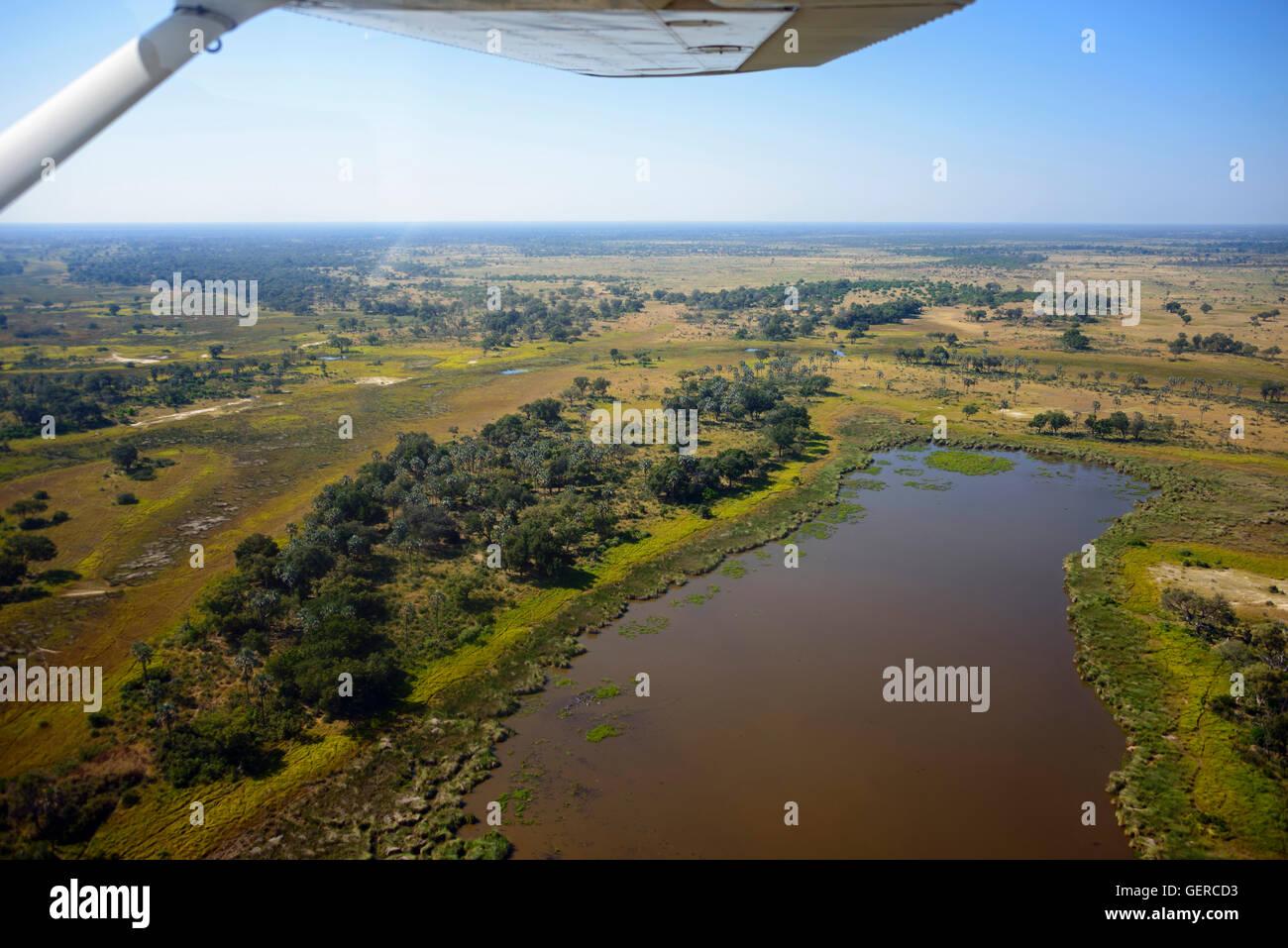 Aerial view, Okavango Delta, Botswana - Stock Image