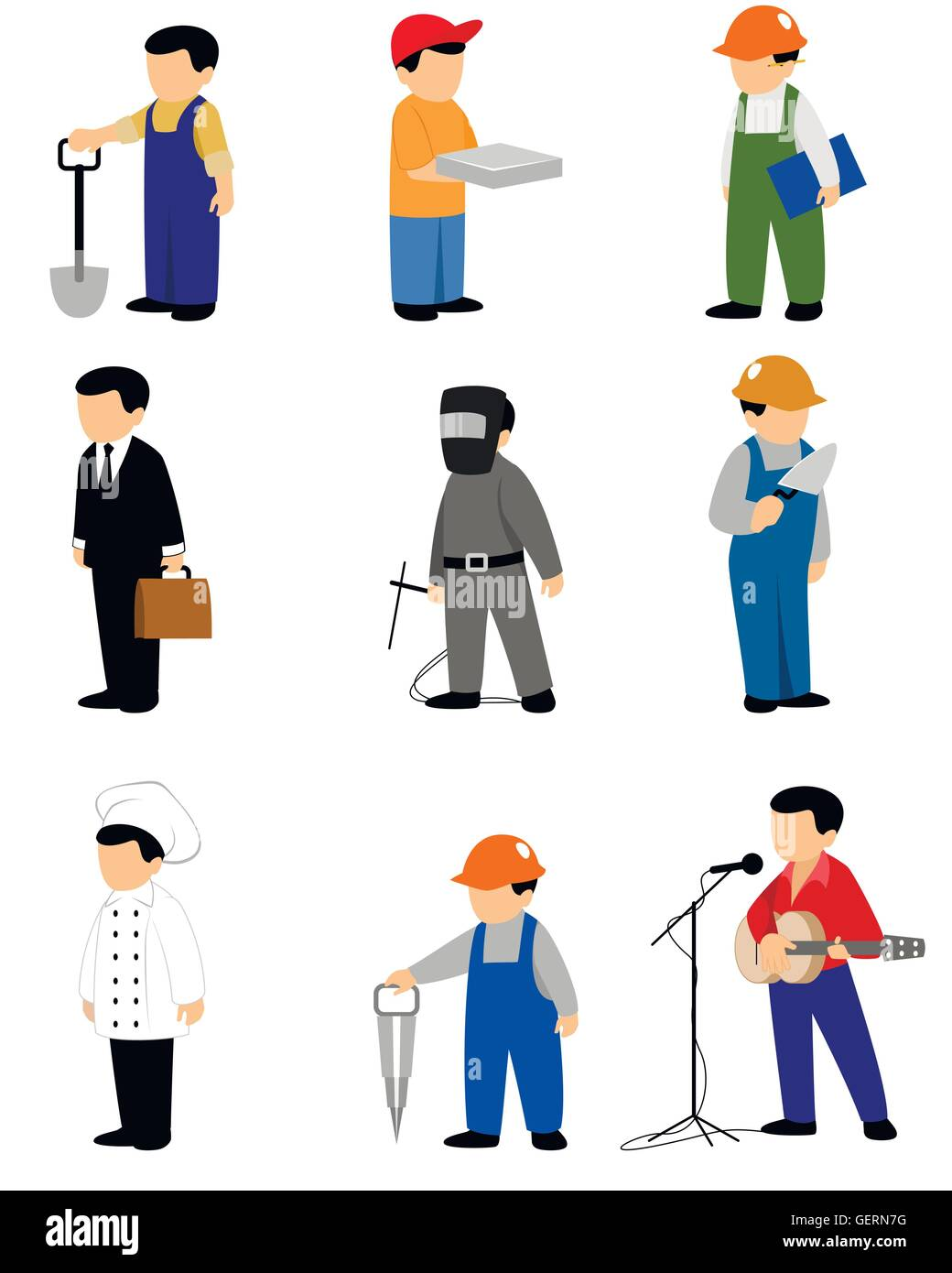 People Occupations Jobs And Community At: Occupations And Work Stock Vector Images