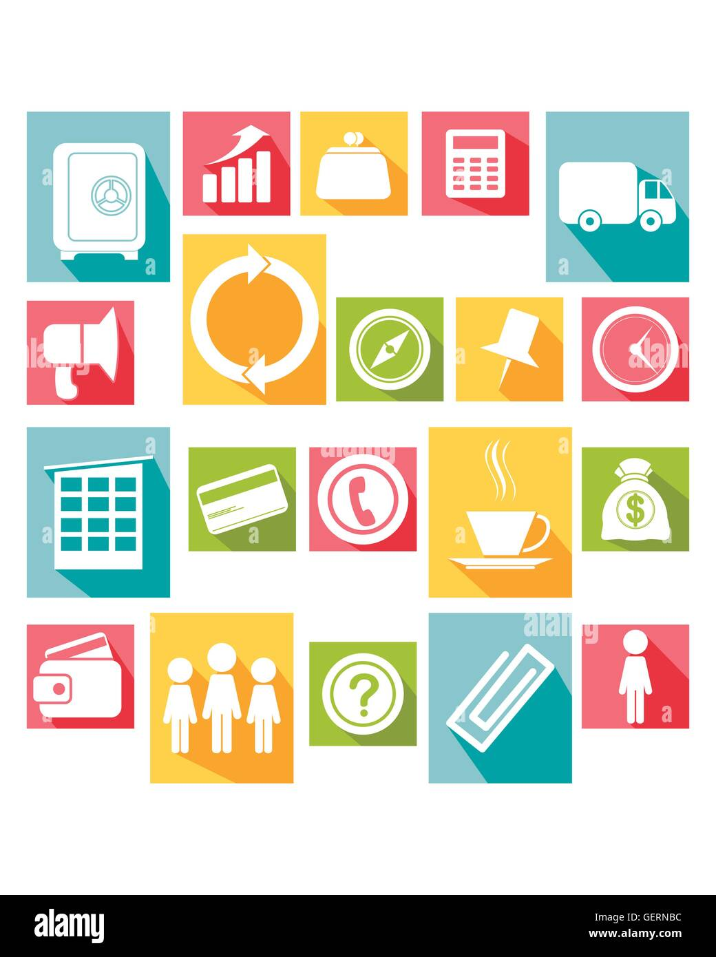Vector illustration of a big  icons set - Stock Vector