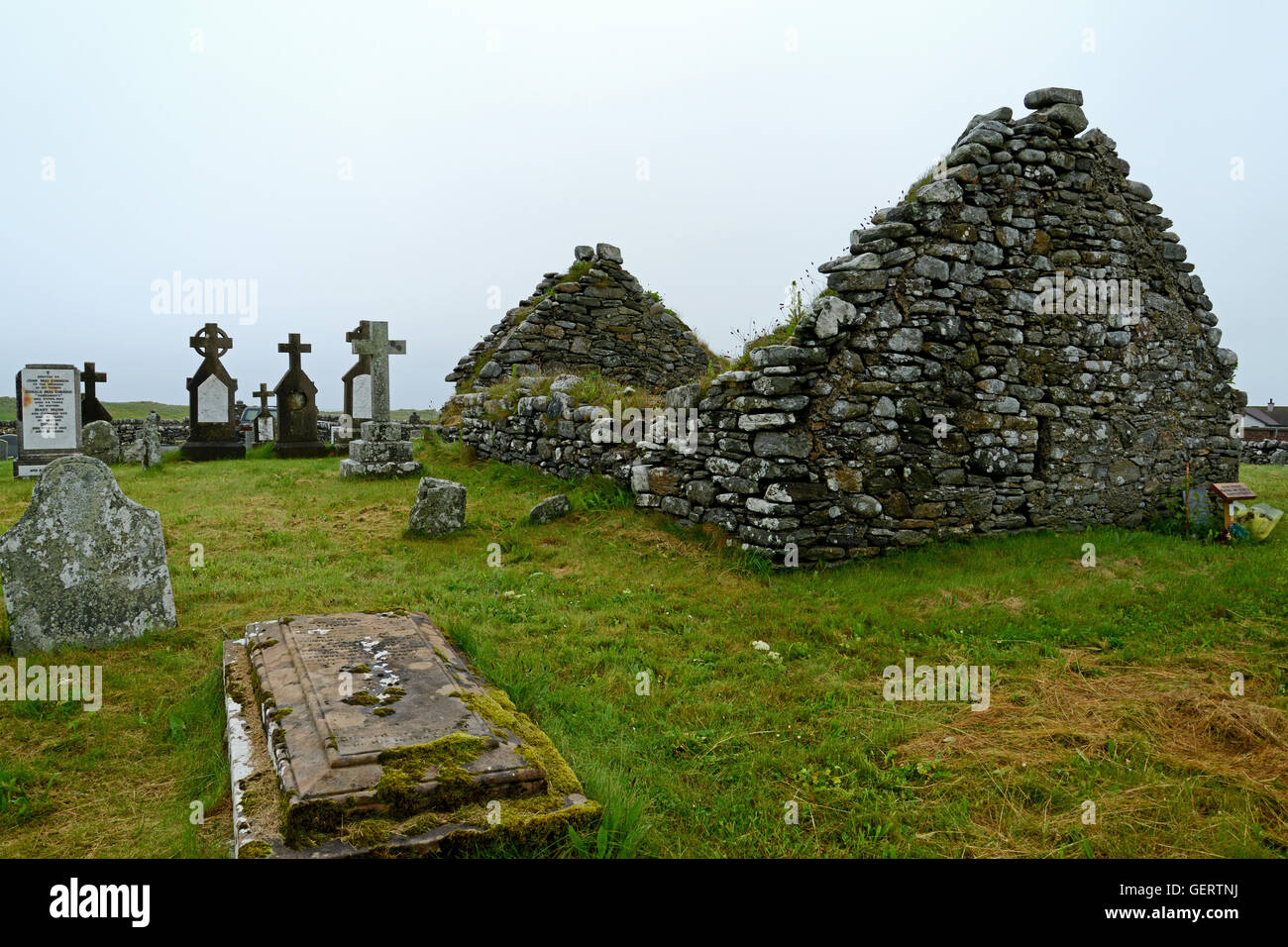 Baile nan Cailleach Chapel Stock Photo