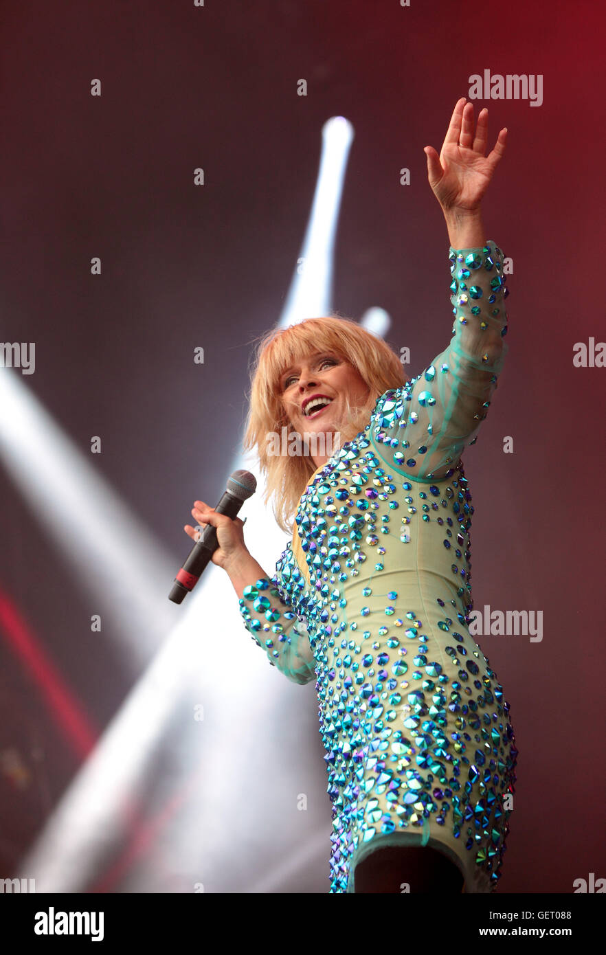 Toyah Willcox,Sings at The rewind festival sings at The Rewind Festival,Scone Palace,Perth,Scotland,Uk - Stock Image