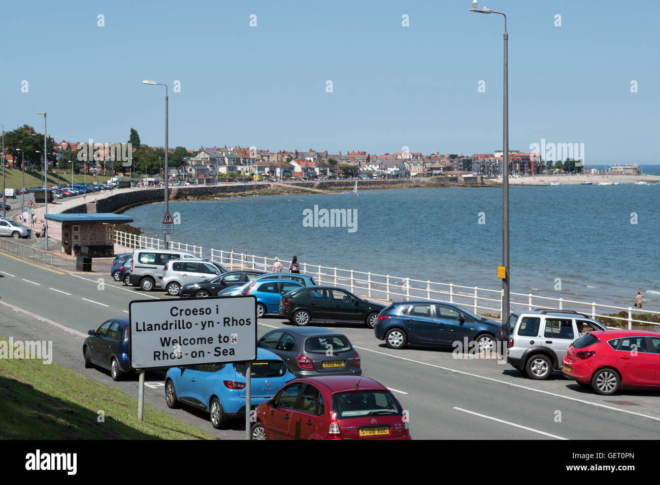 View towards Rhos on Sea, Colwyn Bay North Wales Stock Photo