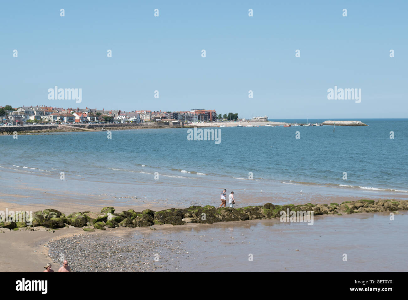 View towards Rhos on Sea North Wales - Stock Image
