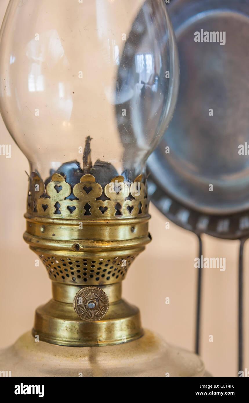 Vintage kerosene lamp - Stock Image
