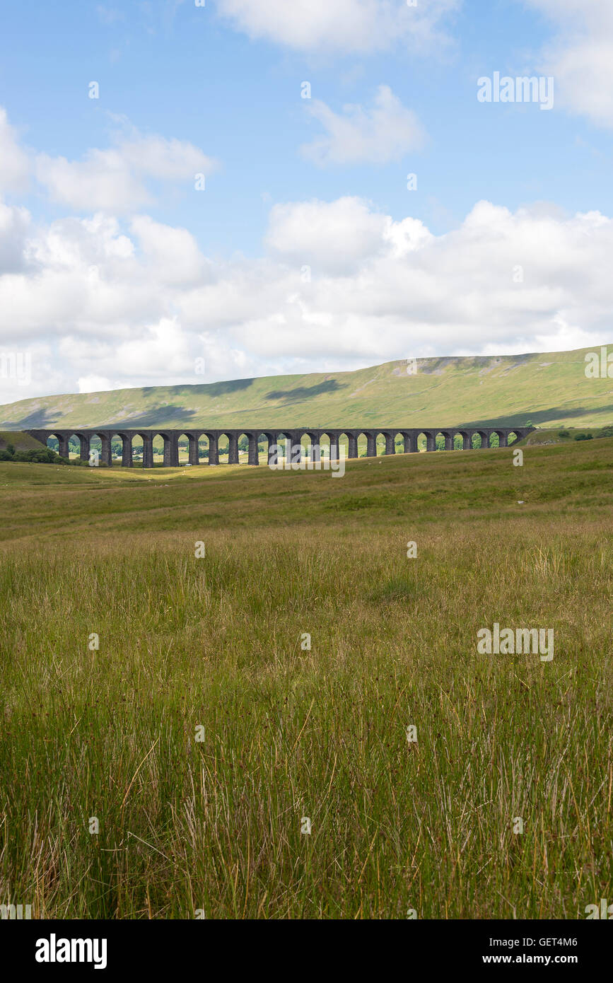 The Famous Ribblehead Viaduct on the Settle to Carlisle Railway North Yorkshire England United Kingdom UK - Stock Image
