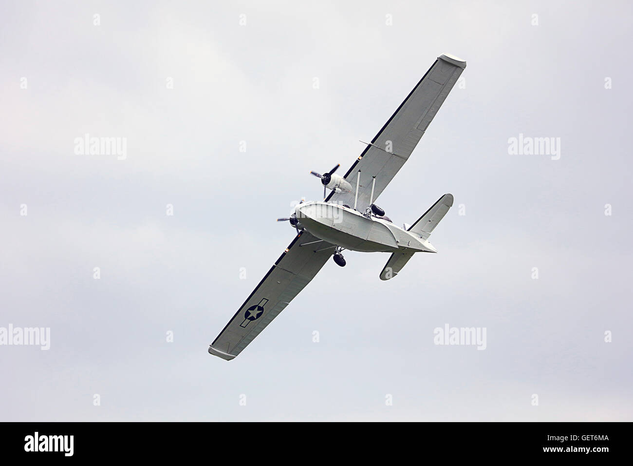 The under belly of the Catalina Flying boat - Stock Image