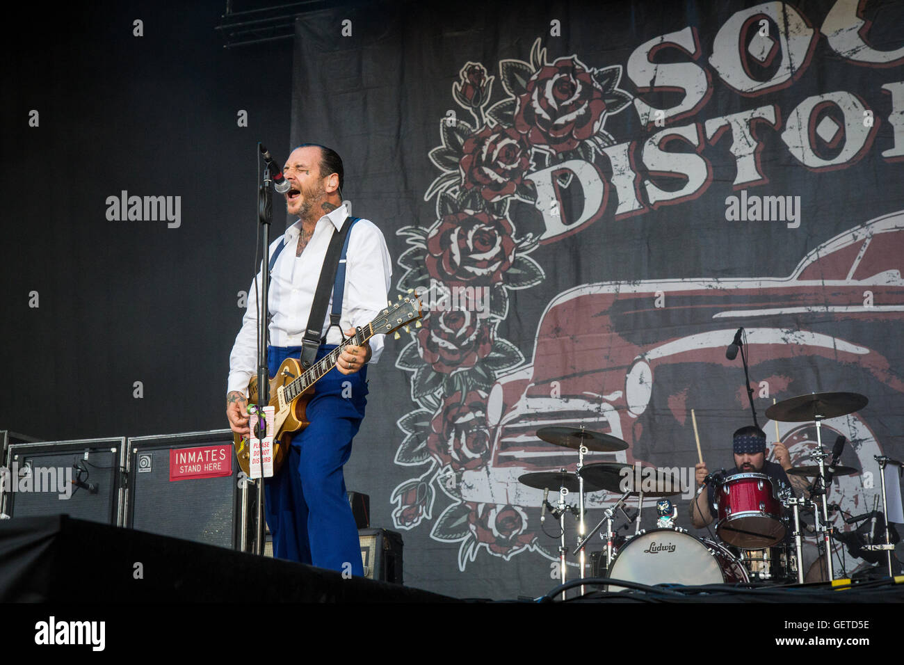 Rho Milan Italy. 15th June 2011. The American punk rock band SOCIAL DISTORTION performs live on stage at Arena Fiera - Stock Image