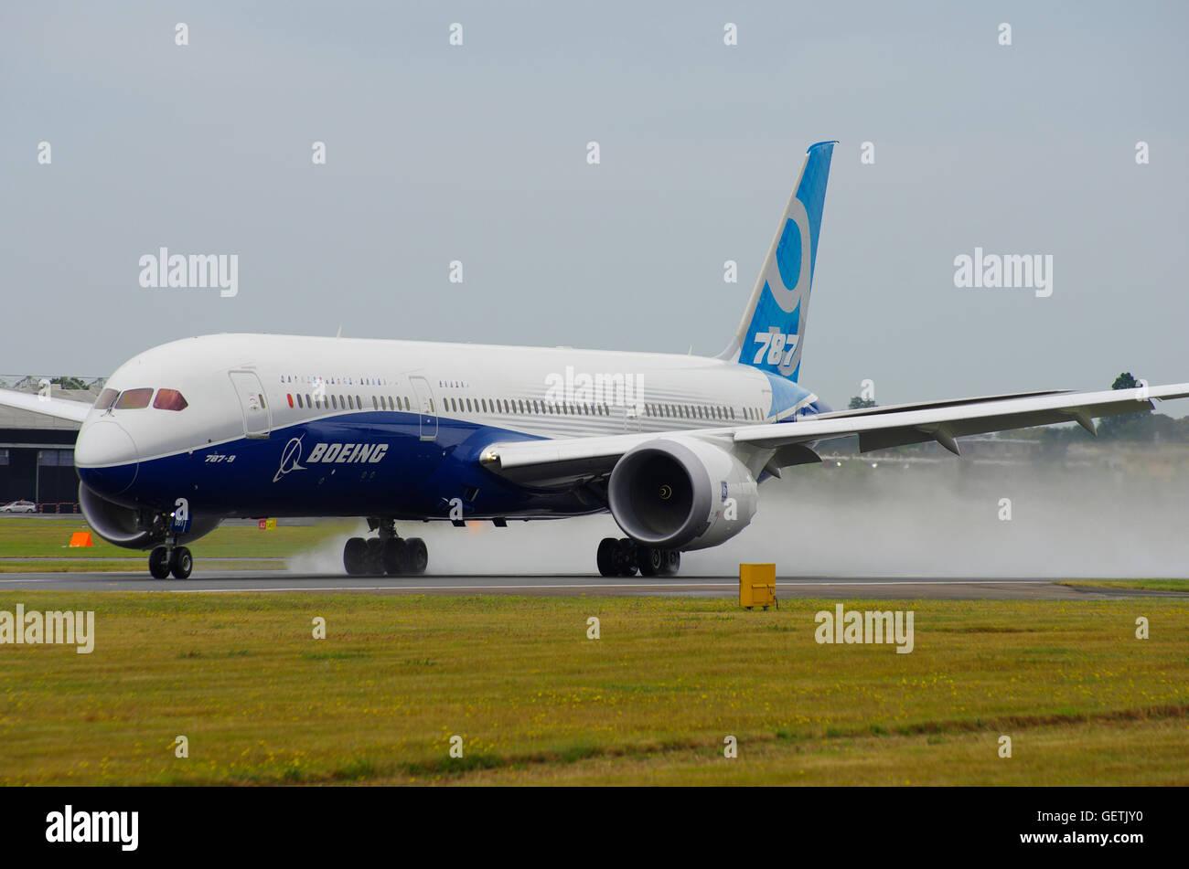 Boeng 787 at Farnborough 2014 - Stock Image